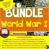 World War I BUNDLE Unit  (World History)Common-Core Aligned!