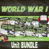 World War I BUNDLE Unit  (World History) PRINT & DIGITAL