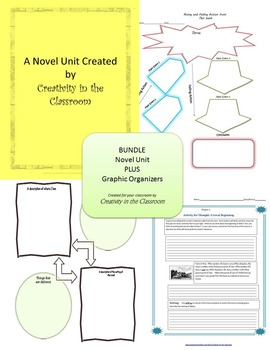 BUNDLE: Wringer Novel Unit Plus Grammar AND Graphic Organizers