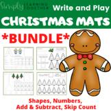 BUNDLE - Write and Play Christmas - Play Doh Mats - Math Centers