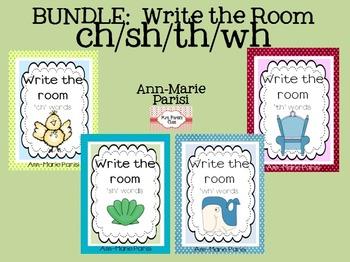 BUNDLE:  Write the Room ch/sh/th/wh