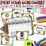 CVC Short Vowel Word Families Write the Room **BUNDLE**