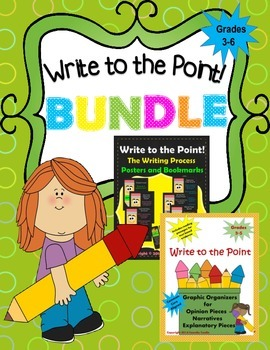 BUNDLE! Write to the Point! (Graphic Organizers/Passages AND Posters/Bookmarks)