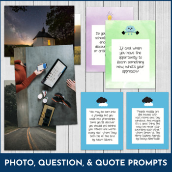 BUNDLE! WriteStart Inspirational Task Cards - Freewriting and Discussion (175+)