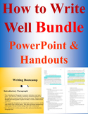 BUNDLE: Writing Bootcamp PowerPoint, MLA Format Overview, Rules for Writing