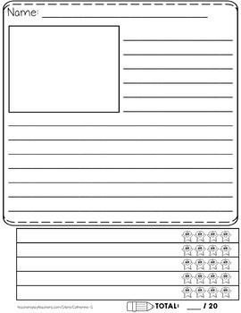 BUNDLE: Writing Paper with Rubric