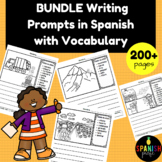 BUNDLE: Writing Prompts in Spanish with Vocabulary (Escrit