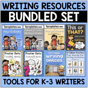 BUNDLE: Writing Resources for K-3 Children