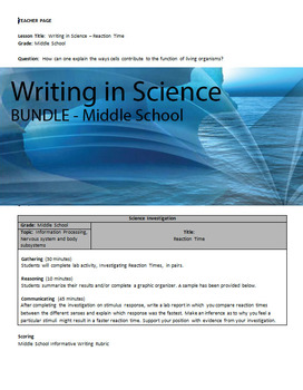 BUNDLE - Writing in Middle School Science