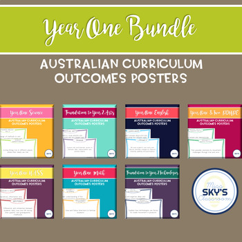 Year 1 All Subject Australian Curriculum Outcome Posters