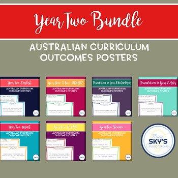Year 2 All Subject Australian Curriculum Outcome Posters