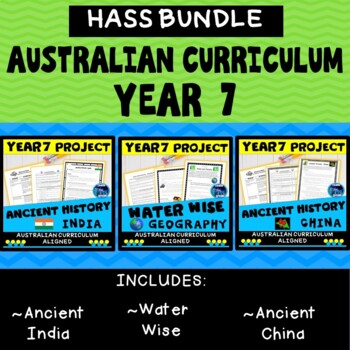 BUNDLE - Year 7 Ancient History, Australian Curriculum, HASS