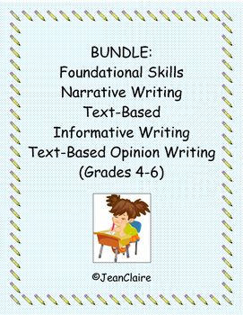 BUNDLE: Year-Long Common Core Writing Prompts (Grades 4-6)