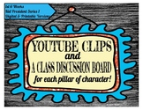 BUNDLE:YouTube Clips for each Pillar of Character (Digital/Printable)