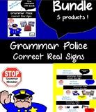 BUNDLE: all 4 Grammar Police Bell Ringer Powerpoints PLUS Free Worksheet