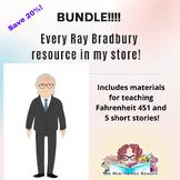 BUNDLE: every Ray Bradbury resource in my shop! Fahrenheit