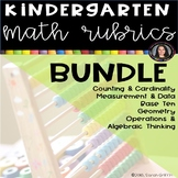 Kindergarten Math Rubrics - Bundle - CCMS data