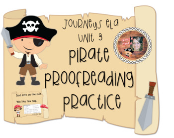 BUNDLE for Half the Year Pirate Proofreading Journeys First Grade Units 1-3
