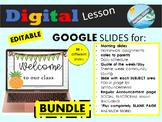 BUNDLE - google slides for distance learning , hybrid lear