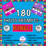 BUNDLE of 180 photo prompts! Literacy center, bell ringers