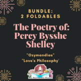 BUNDLE of 2 Percy Bysshe Shelley Foldable Poetry Analysis
