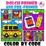 BUNDLE of 2 Sets of Color by Code School Themed Sight Word