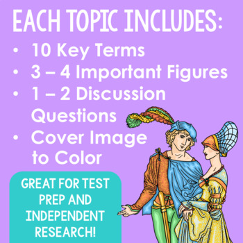 BUNDLE of 27 World History Mini Projects, Research Brochure Templates