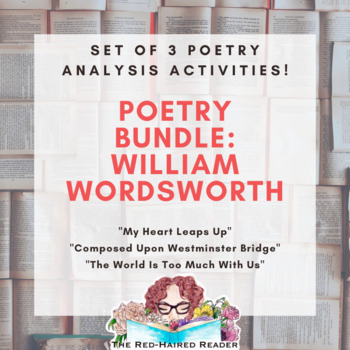 Bundle Of 3 Foldable Poetry Analysis Activities By William Wordsdworth