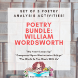 BUNDLE of 3 Foldable Poetry Analysis Activities by William