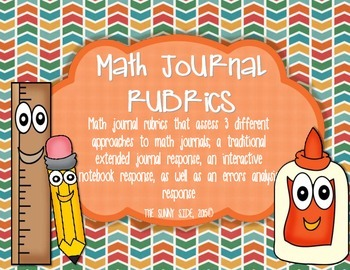 BUNDLE of 3 Math Journal Rubrics!