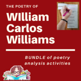 BUNDLE of 3 poems by William Carlos Williams Foldable Poet