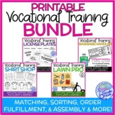 BUNDLE of 4 Printable Vocational Work Tasks for Autism Units and SpEd Classes