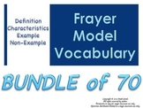BUNDLE of 70 Frayer Model Vocabulary (Vocabulary they will