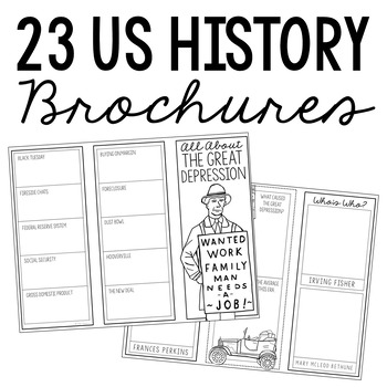 BUNDLE of 48 World and American History Mini Projects, Research Brochures