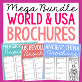 World and American History Research Brochure Projects, Easy Review BUNDLE!