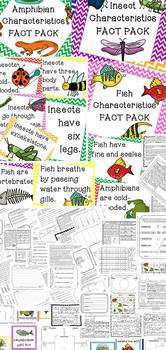 ANIMAL CHARACTERISTICS Fact Packs Mammals Birds Reptiles Fish Insects Amphibians