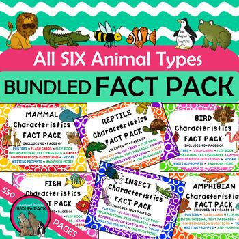 ANIMAL CHARACTERISTICS Fact Packs Mammals Birds Reptiles F