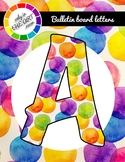 BUNDLE of 5 sets Bulletin Board Letters Dot Patterns classroom decor