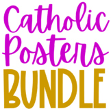 BUNDLE of Catholic Posters, Coloring Pages, and Mini Books