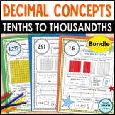 Decimal Concept Pages BUNDLE | Distance Learning Printables
