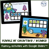 BUNDLE of Digital Counting & Number Fluency with Google Sl