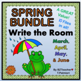 BUNDLE of EASY & EDITABLE - Write the Room - WORDS - 10 SP