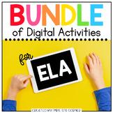 BUNDLE of English Language Arts Digital Activities | Distance Learning
