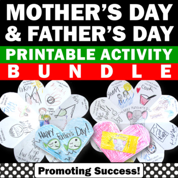 BUNDLE Of Foldable Mother S Day Card Father S Day Card Craft Project