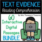 BUNDLE of Google Slides™ Comprehension Passages (Distance