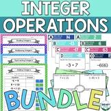 BUNDLE of Integer Operations Activities (Digital + Printable)