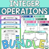 BUNDLE of Integer Operations Activities (Digital + Printable)