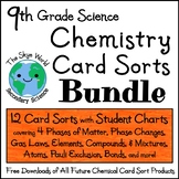 BUNDLE of LESSONS - 12 Chemistry Card Sorts