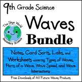 BUNDLE of LESSONS - WAVES - Notes, Card Sorts, Problems, Labs, and More!