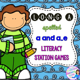 Phonics Stations: Long A spelled a and a_e